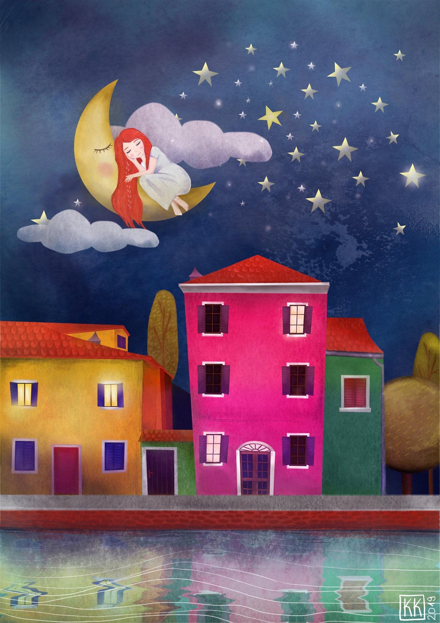 Noční ostrov Burano